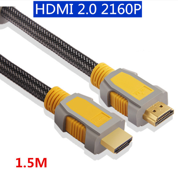Gold Plated 1.5m 2160P HDMI Cable 2.0v for 3D HDTV with Ethernet 24K Gold Plated 4K X 2K Way better than 1080P HDMI 1.4 Cable(China (Mainland))