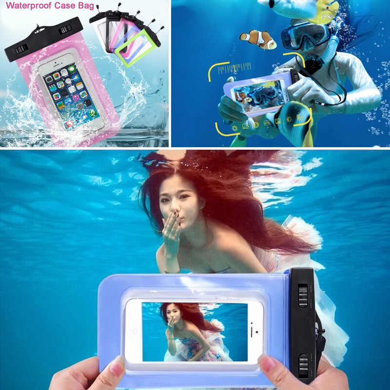 1PCS Clear Waterproof Pouch Bag Case Cover For Nokia Lumia 630 620 635 530 532 X XL 930 950 Sealed Protection Underwater Cover(China (Mainland))