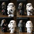 New Star Wars Figures toy 2PCS SETS Black Knight Darth Vader Stormtrooper PVC Action Figures DIY