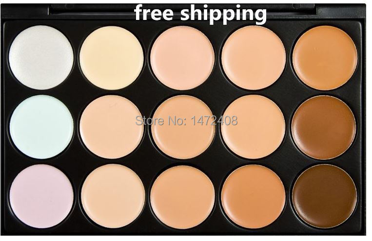 Free shipping Corretivo Concealer Palette Maquiagem makeup Moisturizer Whitening the New 15 Color Concealer, Foundation Cream(China (Mainland))