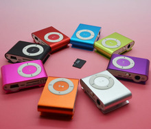 clip mp3 music player with card slot mini mp3 player 8 colors & Free Shipping
