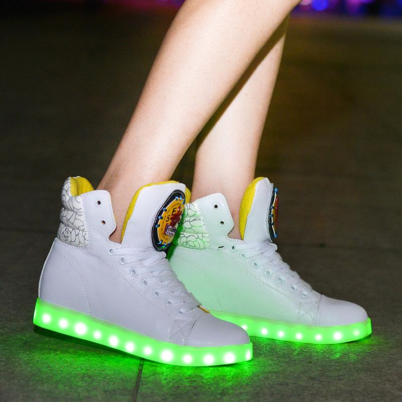 aliexpress buy genuine leather simulation led shoes