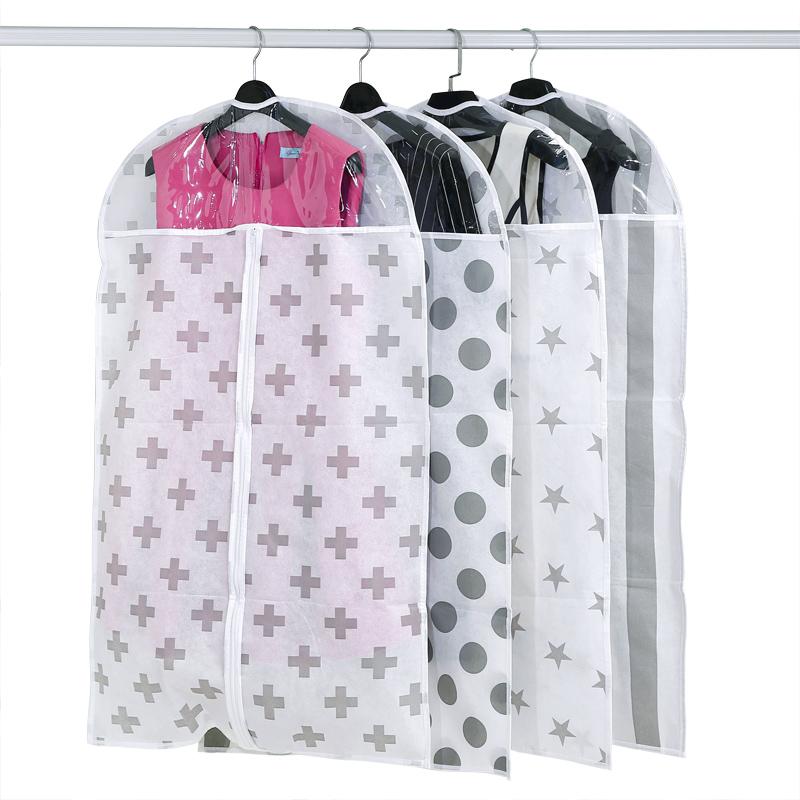 Non - woven dust coat Coat Suit clothing hanging bag dust bag transparent(China (Mainland))