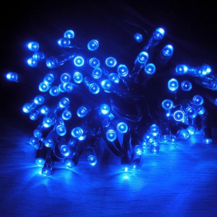HQ 12m Outdoor Solar Power Color Lighting 100 LED Strings Garden Lamps Christmas Fairy String Decoration Holiday Lights Cordoes(China (Mainland))