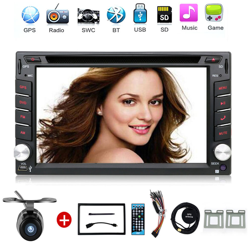 Car Electronic 2 din Car DVD Player GPS Navigation 6.2inch 2din Universal Car Radio In Dash Bluetooth Stereo Video SWC Free Map(China (Mainland))