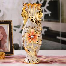 wedding decoration Jingdezhen ceramic fashion gold plated small vase home decoration bowyer flower decoration the wedding flower(China (Mainland))