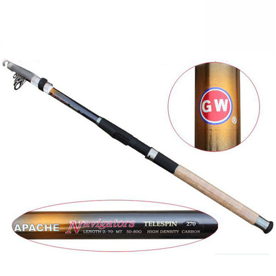 Top quality 100 carbon superhard spinning telescopic for Best telescoping fishing rod