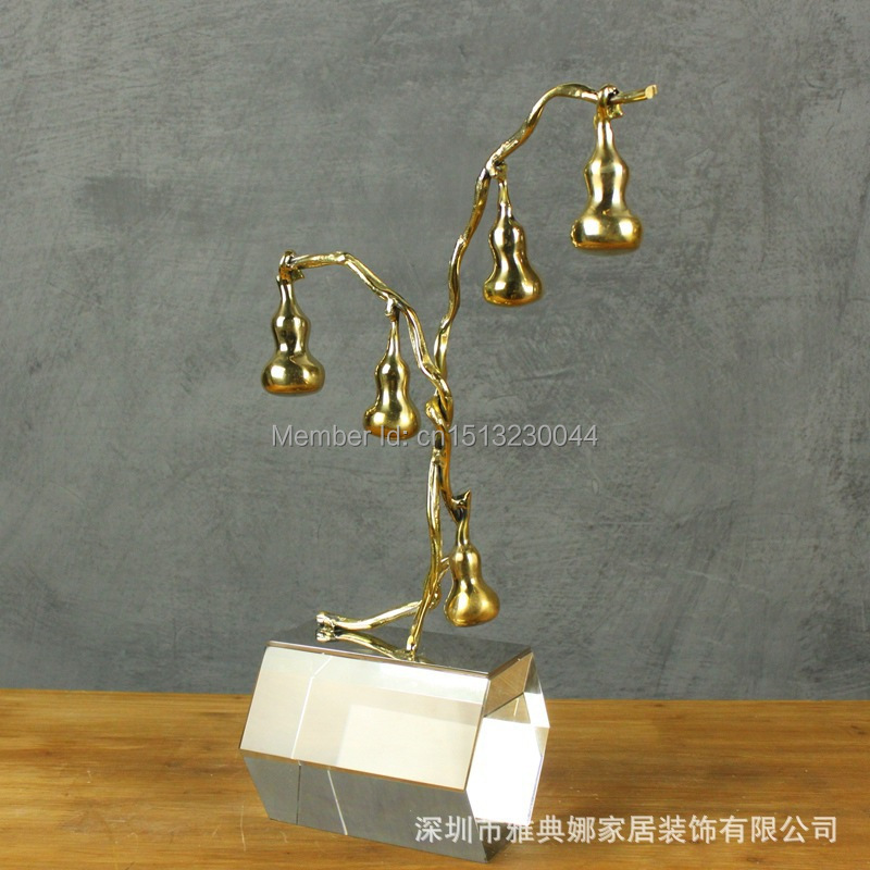 Athena soft home furnishing living room European-style jewelry model room furnishings crystal alloy products(China (Mainland))
