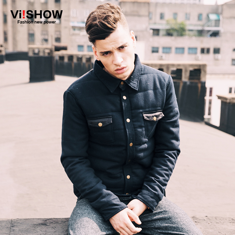 2015 Brand Viishow Winter Jacket Men Casual Outdoor Leather Baseball Slim Fit Solid Fashion Leather Jacket Sportswear Coat