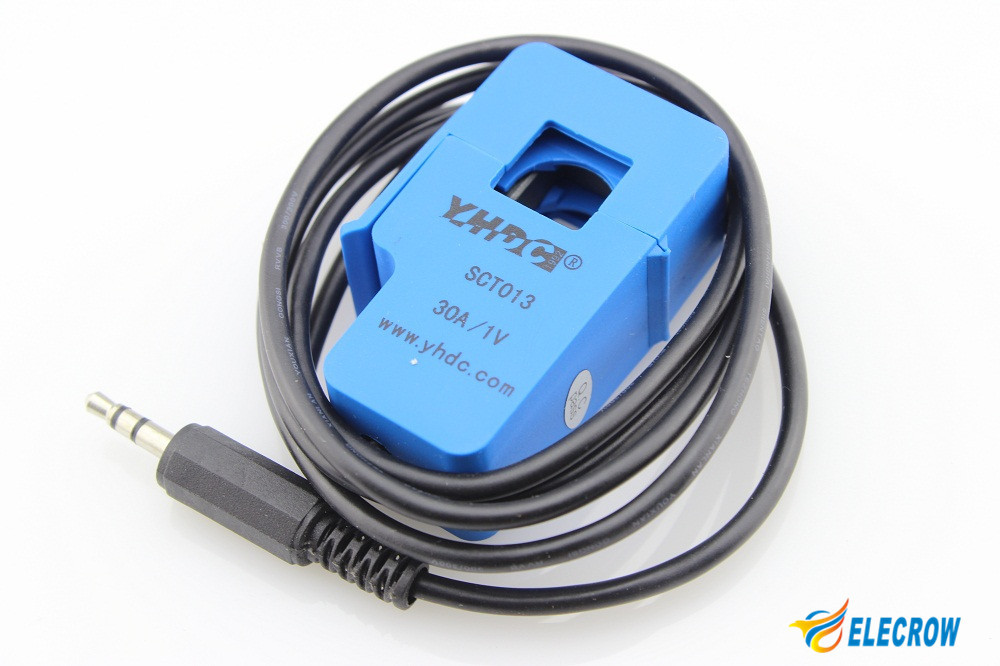 High Quality Non-invasive AC Current Sensor 30A SCT-013-030 Current Transformer AC Current Sensor DIY Kit(China (Mainland))