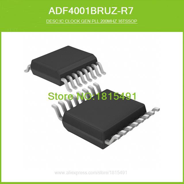 Free Shipping ADF4001BRUZ-R7 IC CLOCK GEN PLL 200MHZ 16TSSOP 4001 ADF4001BRUZ 16-TSSOP 10pcs(China (Mainland))
