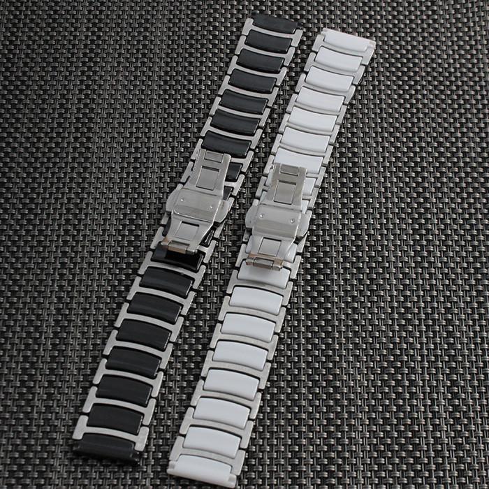 20 мм 22 мм Керамические и Нержавеющей Стали Смотреть Группы ремешок ремешок Бабочки Пряжки браслет