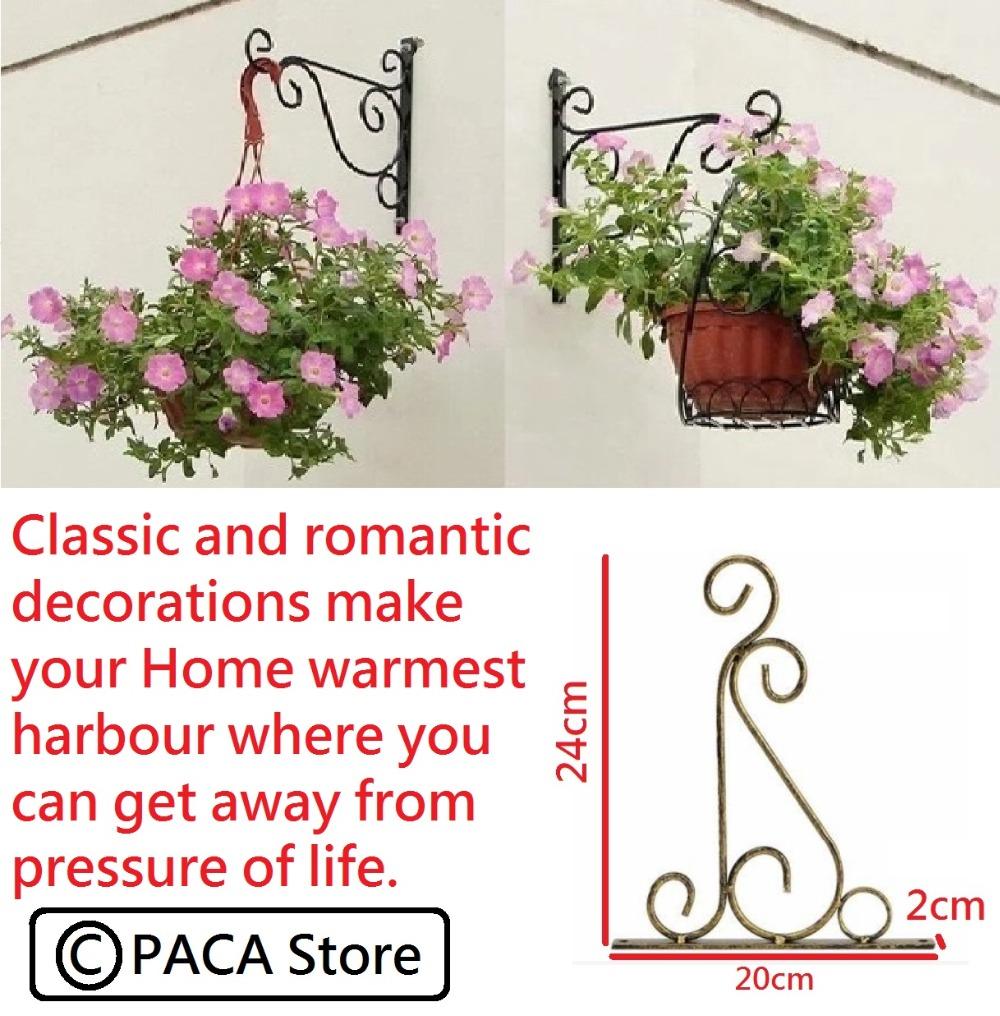 Free Shipping !!! Classic Romantic Wrought Iron Flower Stand Hook Wrought Iron Plants Pots Hooks(China (Mainland))