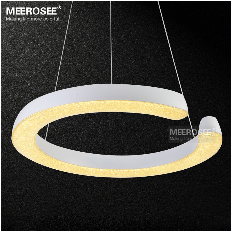 LED Ring Light Fixture Acrylic Pendant Light Modern LED