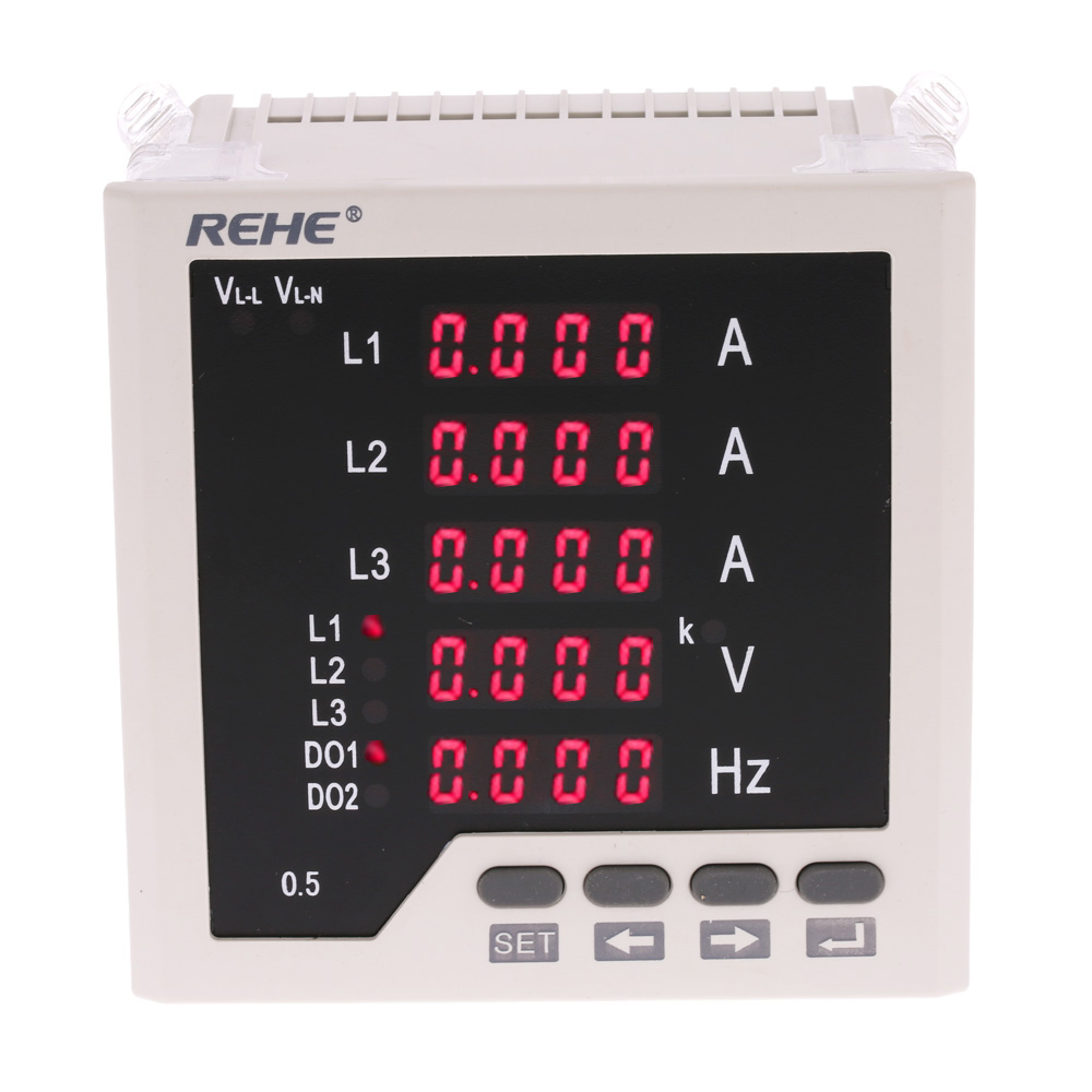 Multi-purpose 3 Phase AC Current/Voltage Meter Frequency counter Ammeter Voltmeter cymometer Current Voltage Ratio Programmable(China (Mainland))