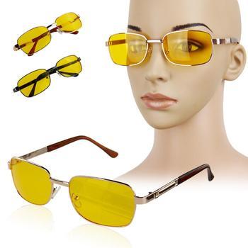 2014 fashion Polarized UV Sunglasses Night Vision Driving Glasses Yellow lens etal + Resin UV400