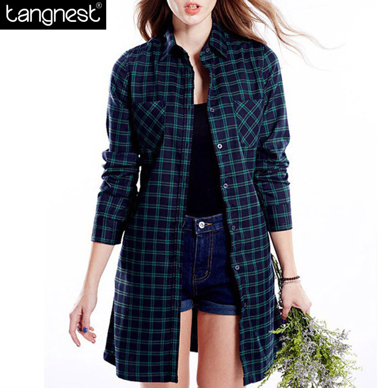 2016 Spring British Style Women Trench Coat Overcoat Casual Long Plaid Trenches With Belt Plus Size Casacos Femininos WWF530(China (Mainland))