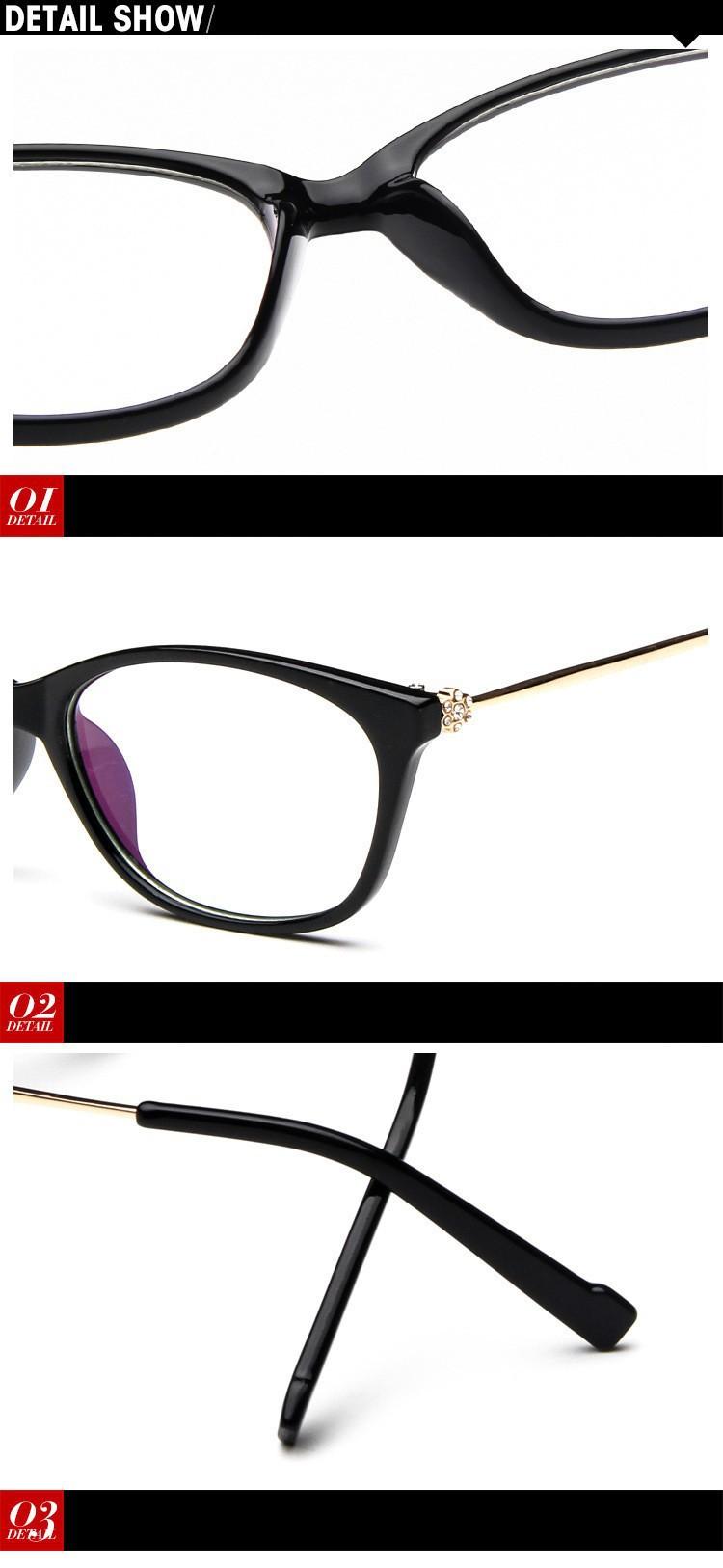 2016 Brand Design Diamond Spectacle Frame Women Eyeglasses Frames Women Computer Reading Optical clear lens Frame Eye Glasses (22)