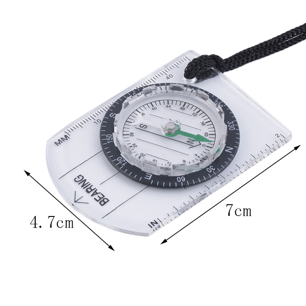 Sales promotion 2pcs Mini Baseplate Compass Map Scale Ruler Outdoor Camping Hiking Cycling Scouts Military Compass wholesale(China (Mainland))