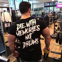 Yomeke Новая Мужская хлопковая футболка с коротким рукавом, летняя повседневная модная футболка для тренажерного зала, фитнеса, бодибилдинга, ...(China)