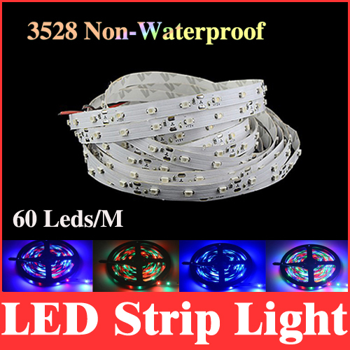 smd 3528 led strip light 5m 300 leds non-waterproof rgb / red / green / blue / white / warm white 60led/m lights RS02(China (Mainland))