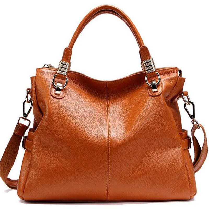 New 2016 genuine leather bags handbags famous brands ladies bags vintage women leather handbags messenger shoulder bags L4-2005<br>