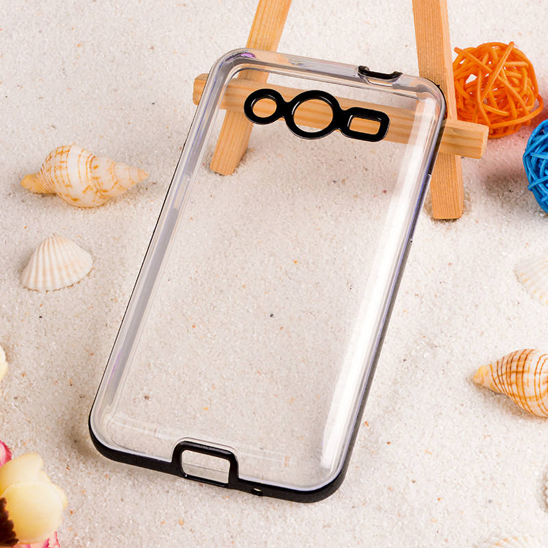 Ultra Thin Soft Shell Cases For Samsung Galaxy Core II 2 G355M Dual SIM G355H Core2 Case Bags PC + TPU 2 in 1 Candy Color Shell(China (Mainland))