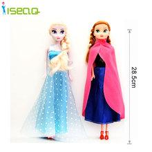 Fashion Princess Anna  Elsa Dolls Kids Toys Snow Queen Children Girls Toys Birthday Christmas Gifts For Kids Cartoon Doll(China (Mainland))