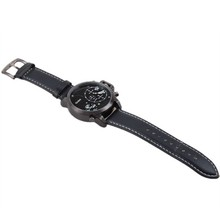 new fashion men s quartz watch dual time zone Oulm brand sports watches military watches waterproof
