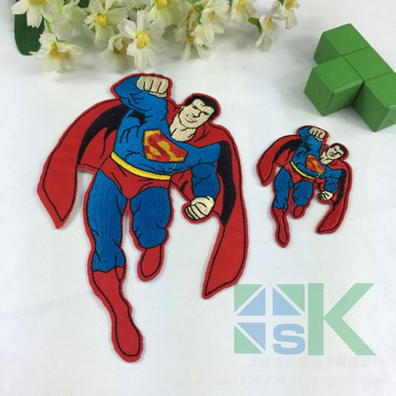 20pcs/lot 2016 New Superman Comics Cartoon DIY Embroidered Sew On Patches Cloth Sticker Clothing Accessory for Childen Clothes(China (Mainland))
