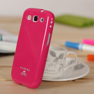 DHL free 50pcs/lot candy color Soft protection shell case with glitter powder for samsung I9300 galaxy s3