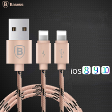 Buy Baseus 2 1 Dual 8pin Lightning USB Cable iPhone 7 6 6s 5s SE iPad Air Mini iPod Nano Apple Data Sync Charger Cable for $5.99 in AliExpress store
