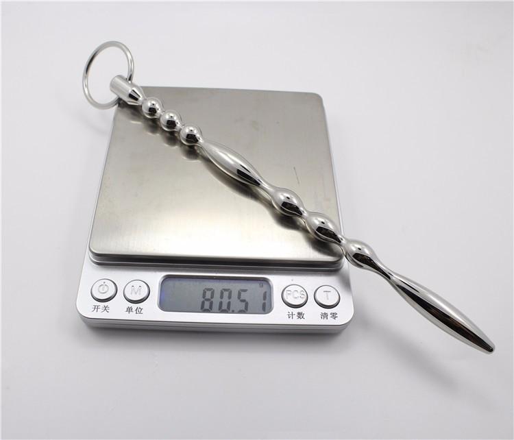 200 мм ( 7.87 '' ) из нержавеющей стали мочевыводящих плагин бусины металл уретры звуки пениса катетеры принц жезл секс игрушки для взрослых 635