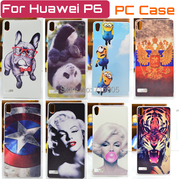 22 Patterns Hot Selling Huawei Ascend P6 Case Cover Colored Paiting Case Huawei P6 P6S Ascend Case Free Shipping(China (Mainland))