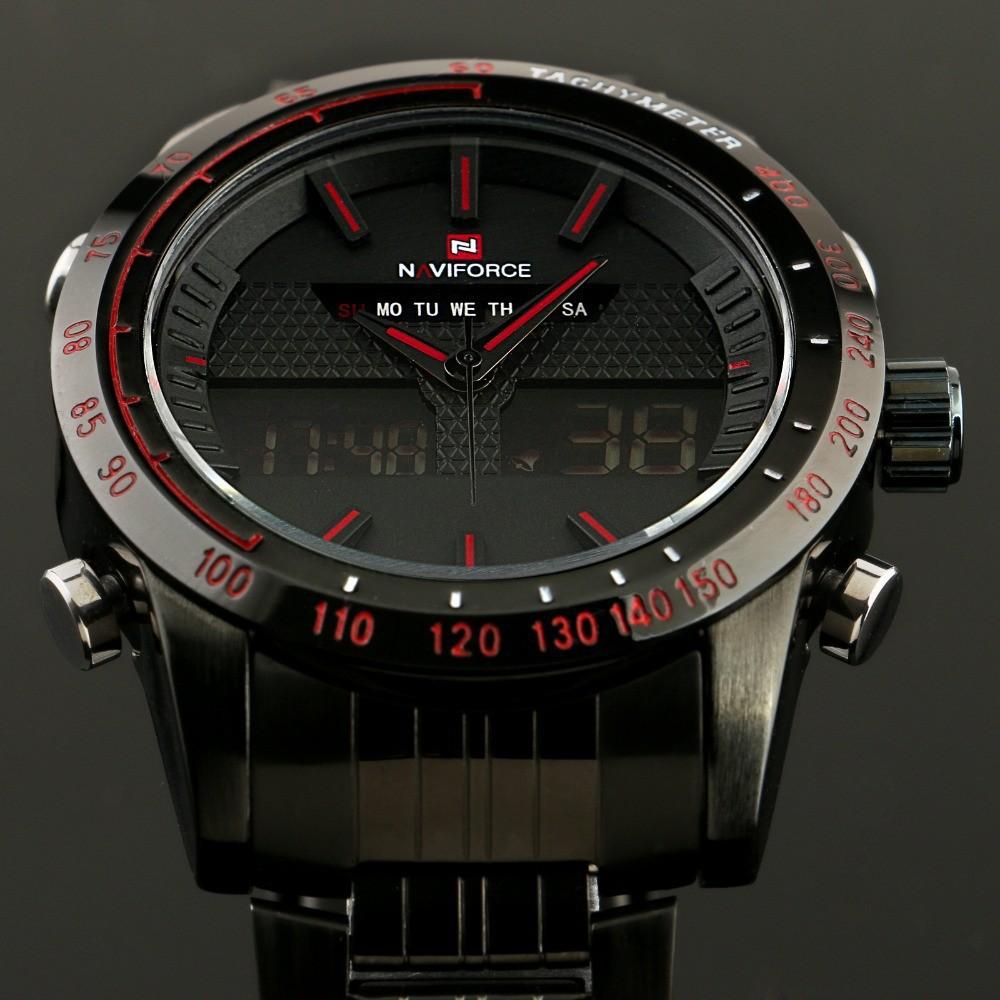 2016 NAVIFORCE Sports Watches Mens Quartz Hour Date Clock Man Steel Digital Military Army Waterproof Wrist Watch Male Relogio<br><br>Aliexpress