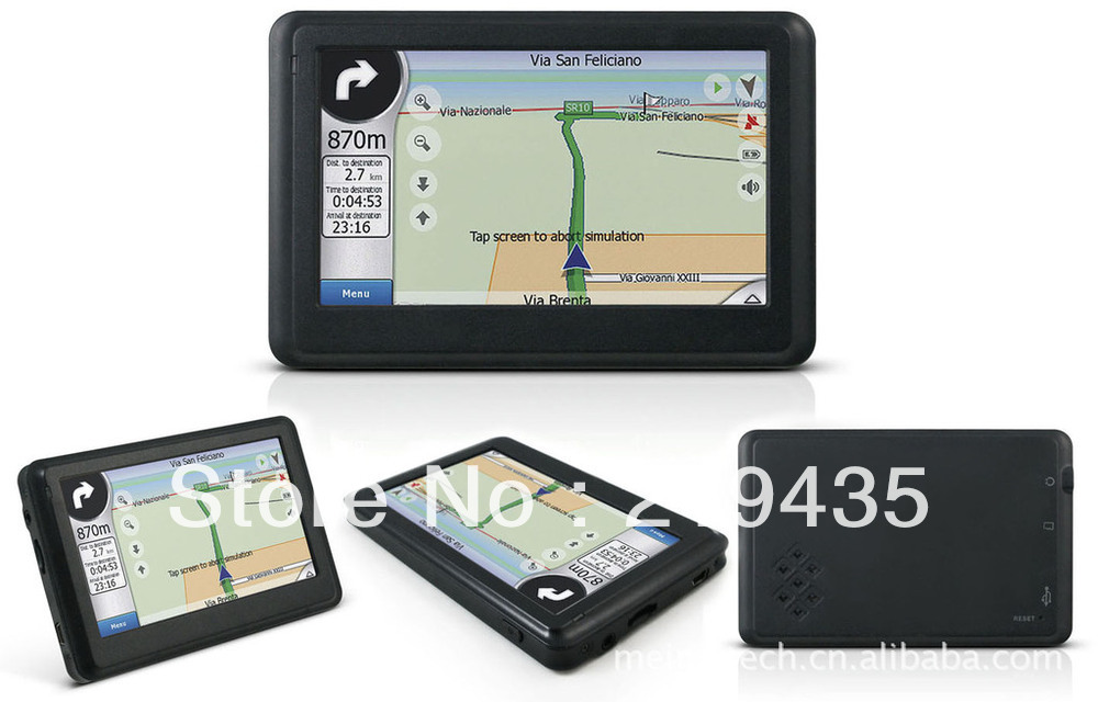 4.3'' HD GPS Car Navigation Navigator 4GB Maps+fm+SD RAM: 128MB