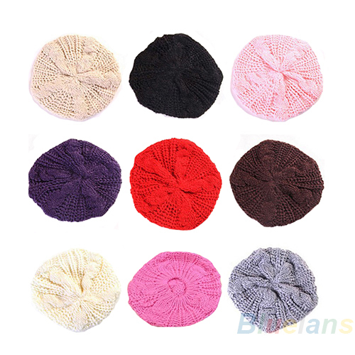 2013 New Fashion Women s Lady Beret Braided Baggy Beanie Crochet Warm Winter Hat Ski Cap