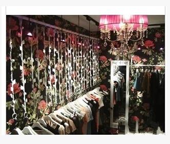 , wrought iron clothing rack display shelf, women's store rings dress hanger shelf wall hang - naierwa du's