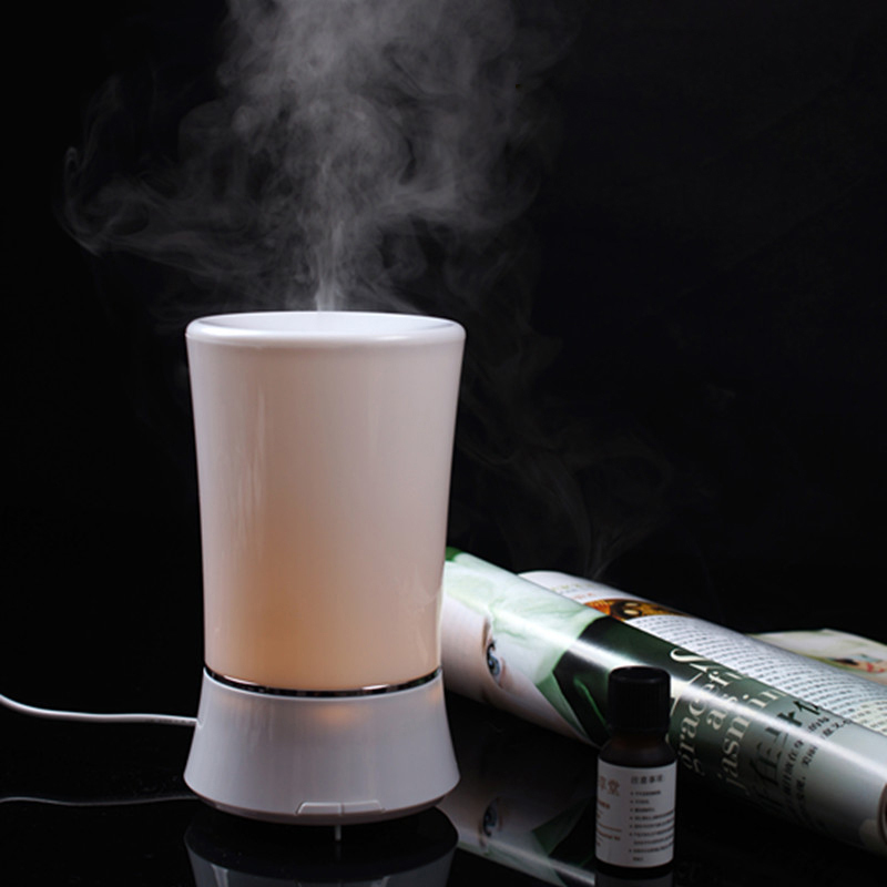 Popular ultrasonic oil diffuser for aromatherapy diffusers LED Ultrasonic Mini Air Humidifier Purifier (JS002)<br><br>Aliexpress