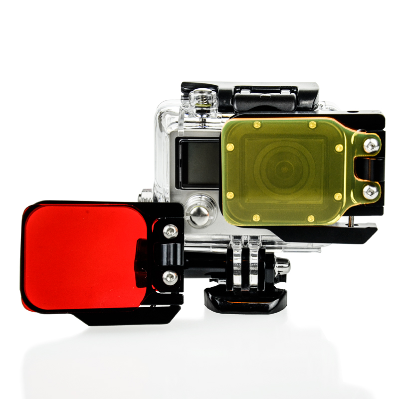 Go Pro Accessories Camera Filters Red Underwater Housing Under Sea Diving Lens Color Filter for GoPro Hero 3 Camera(China (Mainland))