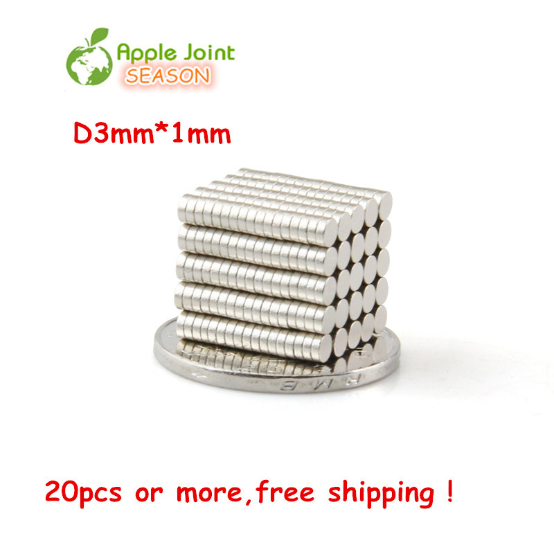 20x Kit 3x1mm N35 Neodymium Disc Super Strong Rare Earth Small Fridge Magnet - APPLEJOINT -- Shenzhen JOINT Technology Co., Ltd. store