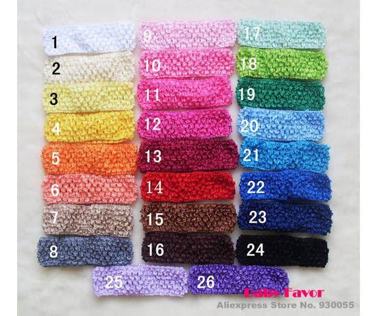 Free Shipping Fashion Design 26pcs New Crochet Knit Kids Baby Girls Infant Newborn Headbands Headwrap Hair Wear Accessories Bulk(China (Mainland))