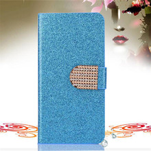 Bling Rhinestone PU Leather Case For Lenovo A3600 A3600D A3800 Cover Original Flip Stand Wallet Phone Coque With Card Slot