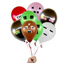 50pcs Minecraft TNT Creeper Big Cow Balloons Latex Minecraft toys Festive Party Decorations Supplies Material Kinds Toy(China (Mainland))