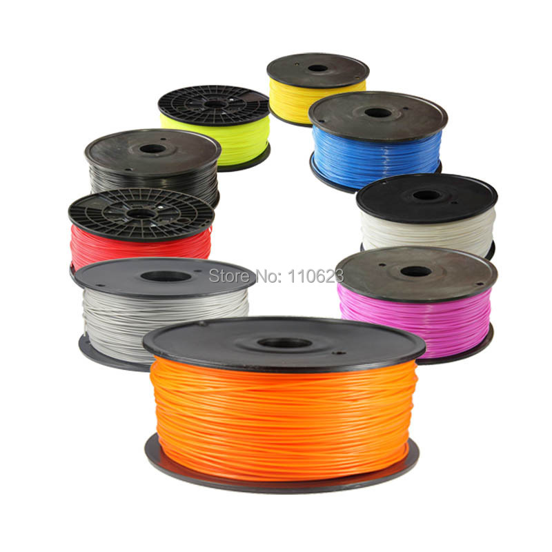 Full colors 3d printer filaments ABS PLA 1 75mm 3mm Plastic Rubber Consumables Material MakerBot RepRap