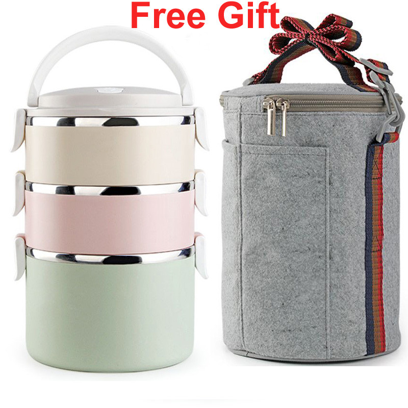 stainless steel thermos bento lunch box for kids thermal food container food thermos portable. Black Bedroom Furniture Sets. Home Design Ideas