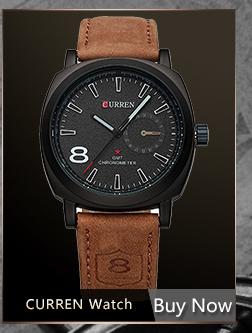 CURREN Luxury Brand Relogio Masculino Date Leather Casual Watch Men Sports Watches Quartz Military Wrist Watch Male Clock 8233