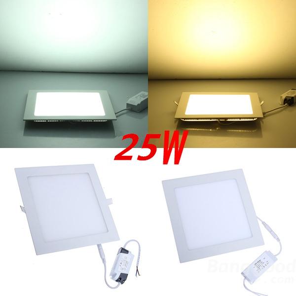 Buy 25 Watt Square LED Ceiling Light Recessed Kitchen Bathro