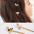 New Colorful Girls Barrette Flying Bee Hair Pins Exquisite Hair Jewelry Delicate Hair Accessories Hairpins