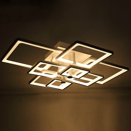 Remote Control Dimmable Led Ceiling Lights Fixture For Living Room Bedroom  Modern Acrylic Dimming Luminaire Lighting